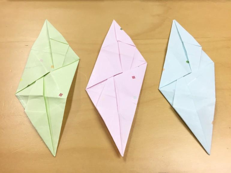 簡単 折り紙 折り紙 三角錐 : mikoshistorys.com