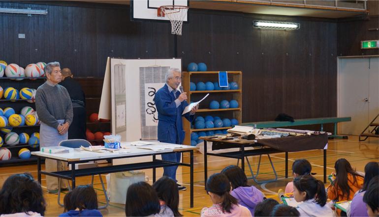 春原さん、稲葉さんによる表具についての説明